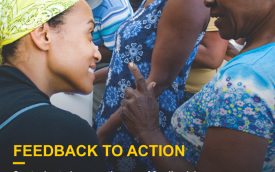 """""""From Feedback to Action""""  Why so much talk and so little action?"""